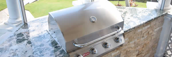 Custom Outdoor Kitchen & Barbecue Grill CLose-up