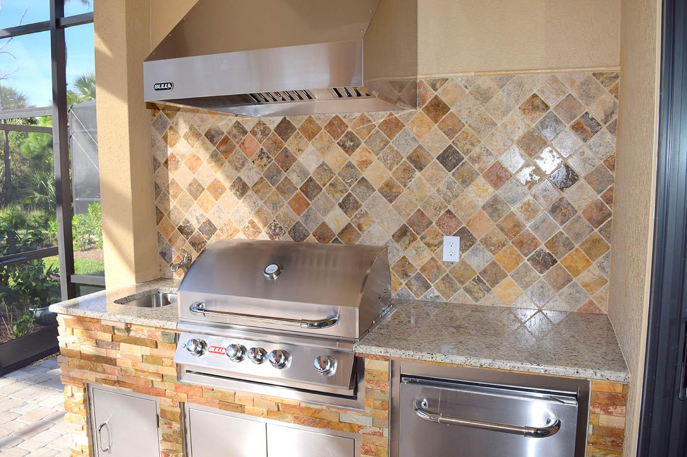 naples outdoor kitchens chadwick elegant outdoor kitchens lely naples community custom kitchen gallery