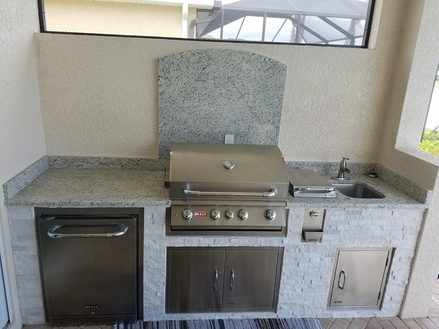 Summer Outdoor Kitchen of Materita in Pelican Preserve of Fort ...