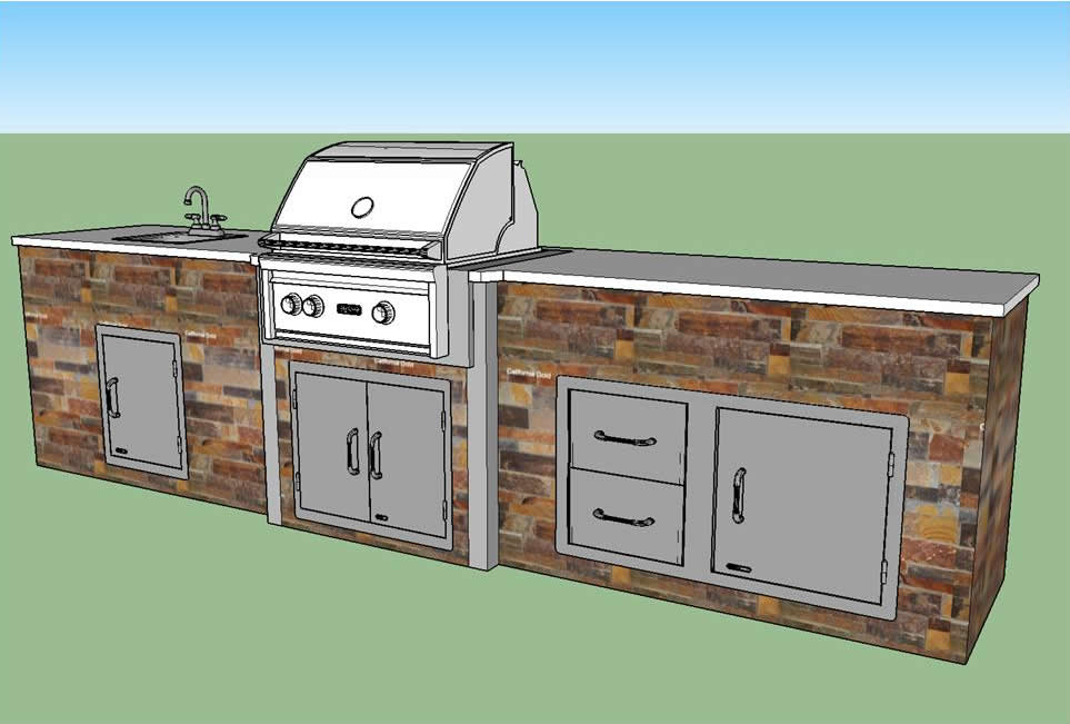 Professional outdoor kitchen design of southwest florida for Outdoor kitchen designs florida