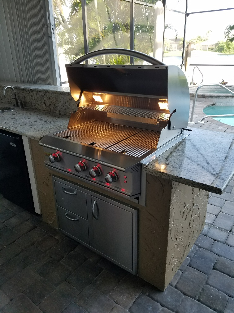Outdoor Kitchen Island Construction