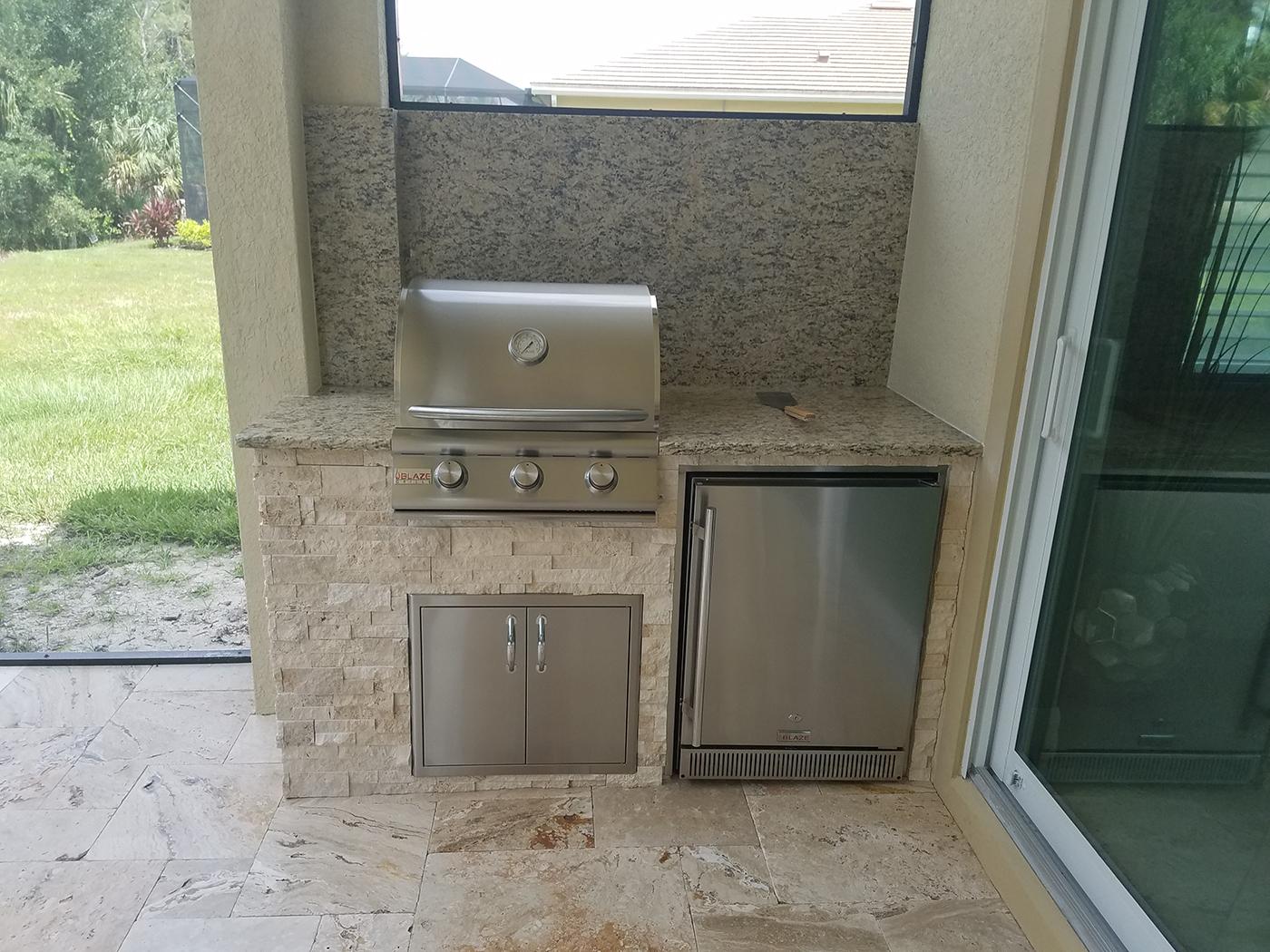 Outdoor Kitchen On A Lanai Patio Extension Elegant
