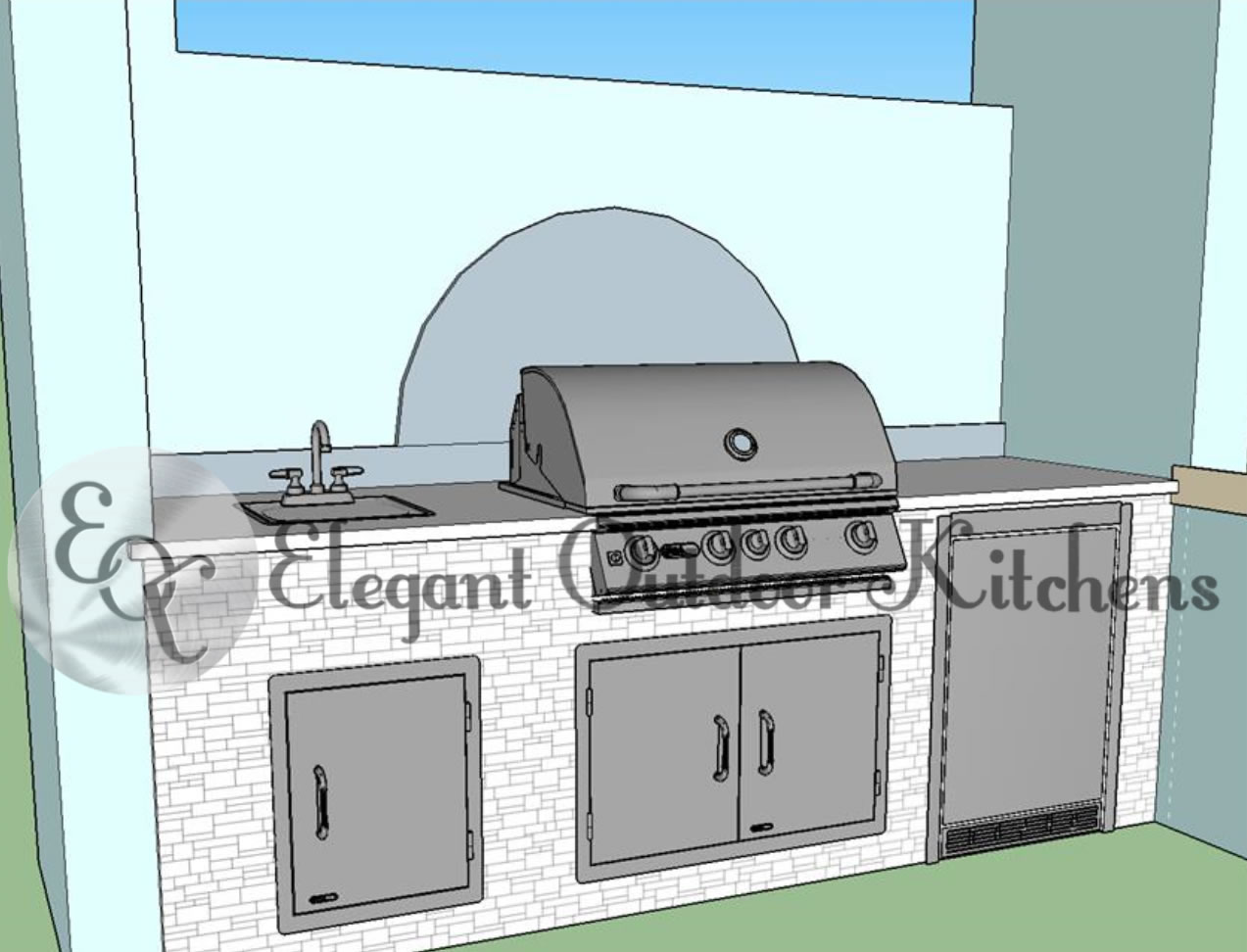 The Convenient Outdoor Kitchen Build - Elegant Outdoor Kitchens
