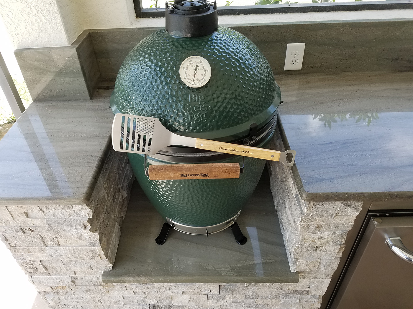 Big Green Egg Island In Kitchen Table Build