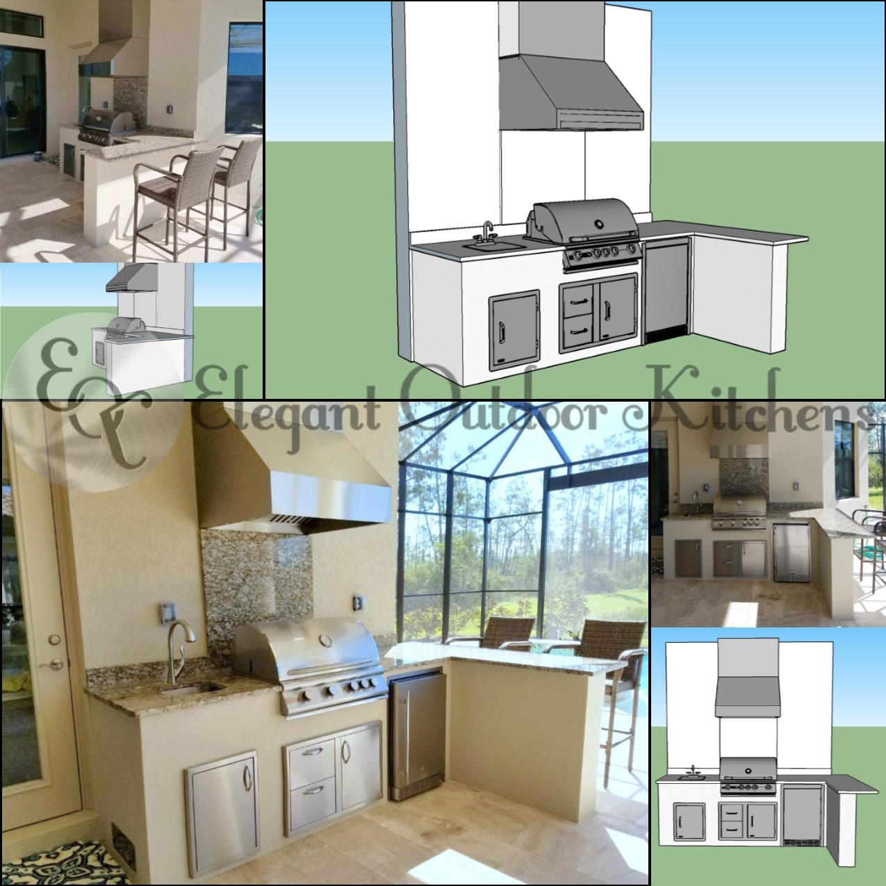 Outdoor Kitchens Sydney Custom Alfresco Kitchen Designs: The Light & Dreamy Custom Outdoor Kitchen