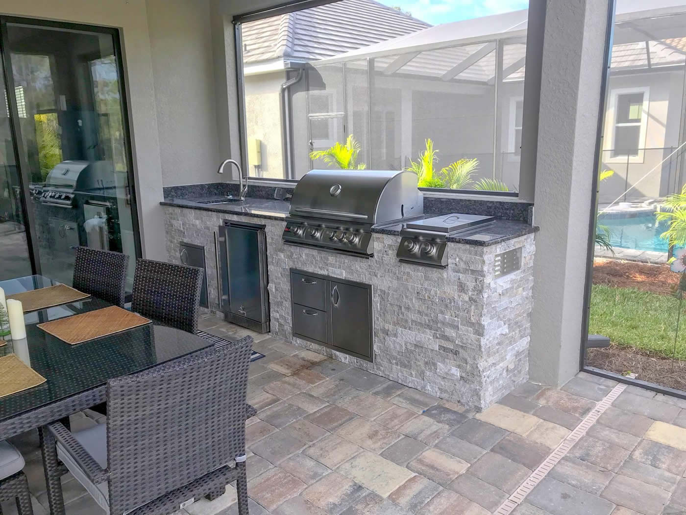 A Completed Elegant Outdoor Kitchen