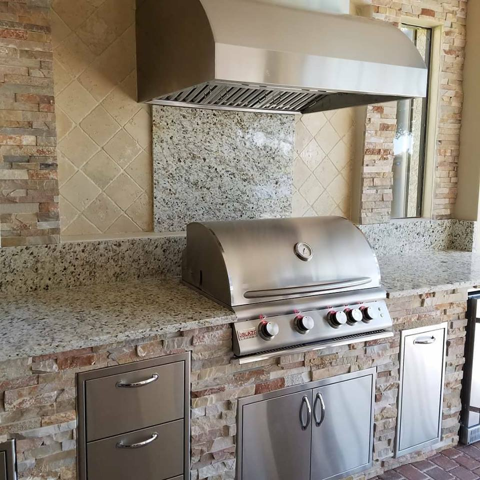 Custom Outdoor Kitchens: Barbecue Island Build