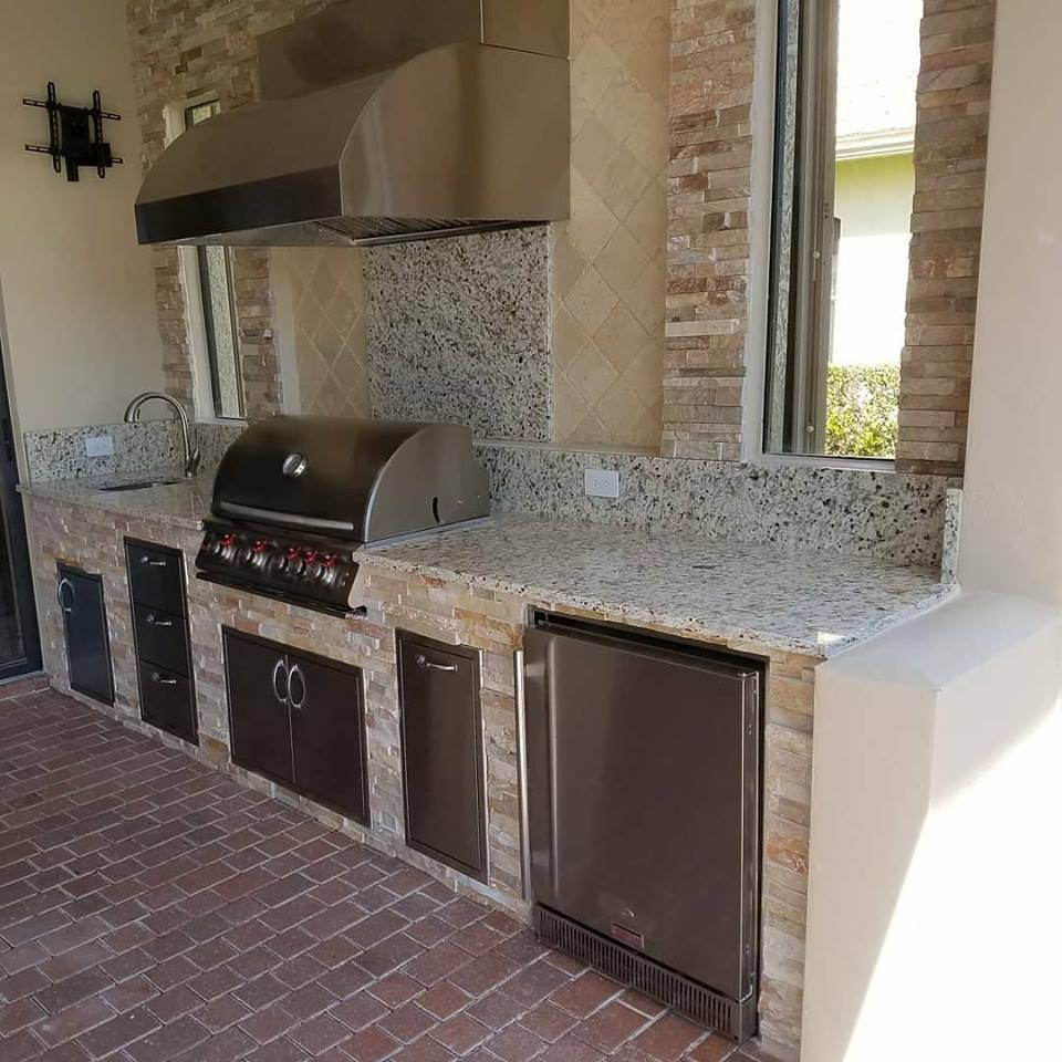 Outdoor Kitchen Vent Natural Stone