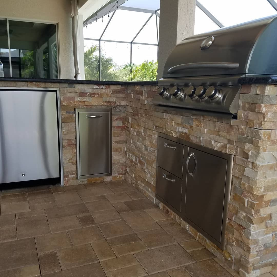Outdoor Kitchen Wood Countertops: Under The Lanai Outdoor Kitchen By EOK